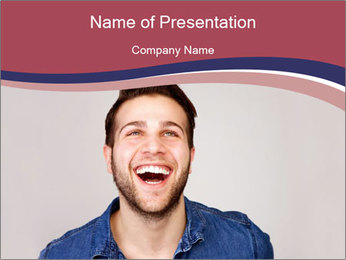 Friendly Man PowerPoint Template - Slide 1