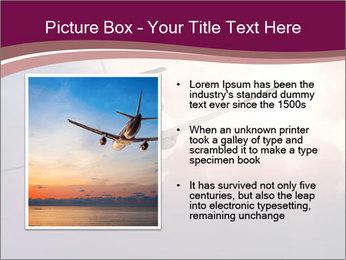 Passenger Plane In Sky PowerPoint Template - Slide 13