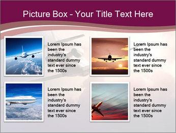 Passenger Plane In Sky PowerPoint Template - Slide 14