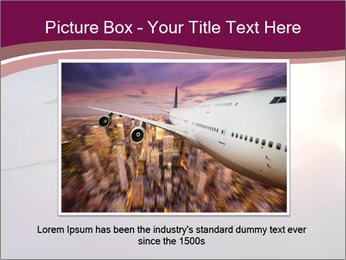 Passenger Plane In Sky PowerPoint Template - Slide 15