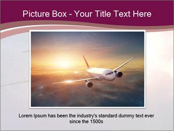 Passenger Plane In Sky PowerPoint Template - Slide 16
