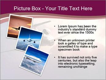 Passenger Plane In Sky PowerPoint Template - Slide 17