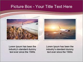 Passenger Plane In Sky PowerPoint Template - Slide 18