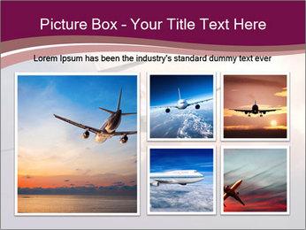 Passenger Plane In Sky PowerPoint Template - Slide 19