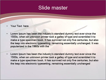 Passenger Plane In Sky PowerPoint Template - Slide 2