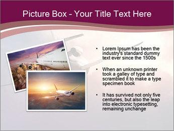 Passenger Plane In Sky PowerPoint Template - Slide 20
