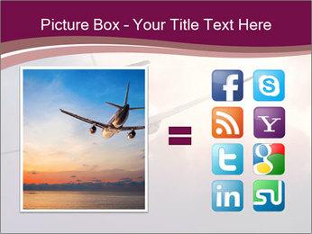 Passenger Plane In Sky PowerPoint Template - Slide 21