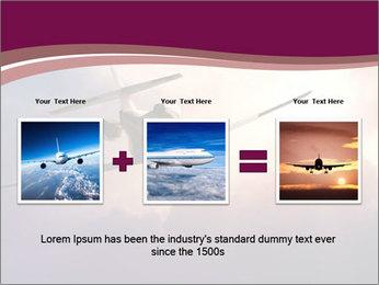 Passenger Plane In Sky PowerPoint Template - Slide 22