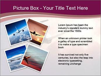 Passenger Plane In Sky PowerPoint Template - Slide 23