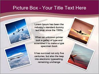 Passenger Plane In Sky PowerPoint Template - Slide 24