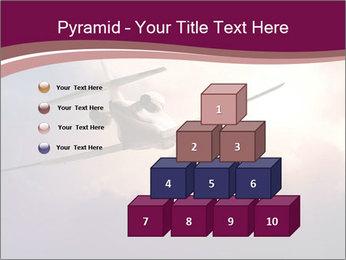 Passenger Plane In Sky PowerPoint Template - Slide 31