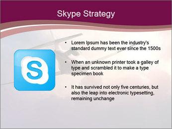 Passenger Plane In Sky PowerPoint Template - Slide 8