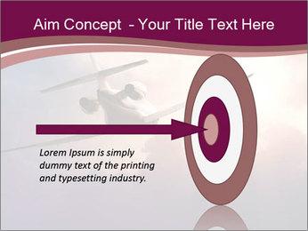 Passenger Plane In Sky PowerPoint Template - Slide 83