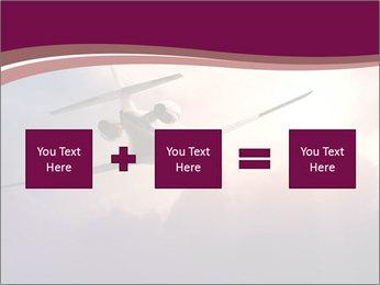 Passenger Plane In Sky PowerPoint Template - Slide 95