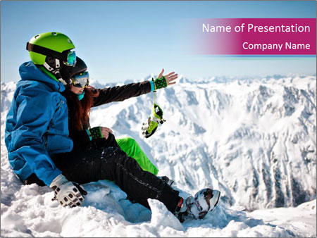 Holidays At Ski Resort PowerPoint Template