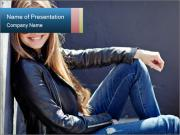 Smiling Urbal Girl PowerPoint Template