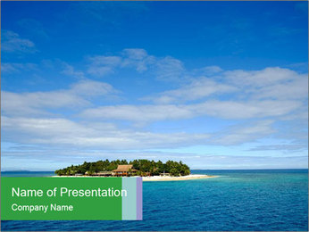 Isolated Island PowerPoint Template - Slide 1
