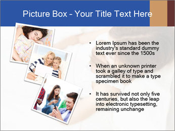 Woman Chatting In Bed PowerPoint Template - Slide 17