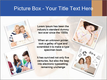 Woman Chatting In Bed PowerPoint Template - Slide 24