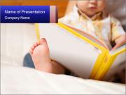 Reading baby with book PowerPoint Template