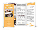 Group of young people holding sign Brochure Templates