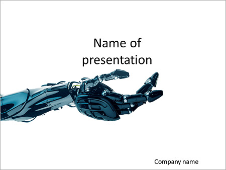 Technologies Of The Future Prosthesis Hand Powerpoint Template