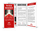 Empty podium and red carpet coverage Brochure Templates