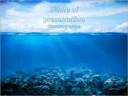 Coral reefs in the blue water and beautiful sky PowerPoint Templates