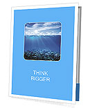 Coral reefs in the blue water and beautiful sky Presentation Folder