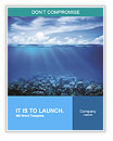 Coral reefs in the blue water and beautiful sky Word Templates