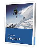 Jumping skier snow white snow Presentation Folder