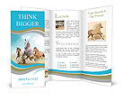 Three beautiful horses running Brochure Templates