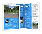 The ideal way to a green area Brochure Templates
