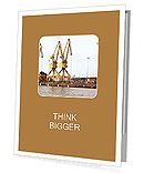 Three yellow dock cranes Presentation Folder
