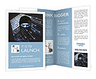 Face hacker in a black mask Brochure Template