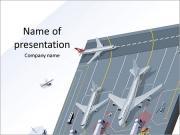 株式の空港 PowerPointプレゼンテーションのテンプレート