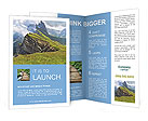 Beautiful view of mountains with alpine lawn Brochure Templates