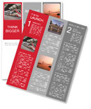 Modern train stops at the station. Barcelona, Spain. Newsletter Template