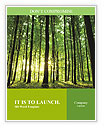 Rays of light through a beautiful green forest Word Templates