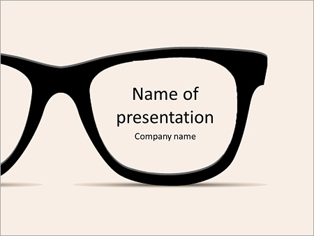 Glasses powerpoint template smiletemplates fashionable glasses with the name of the presentation powerpoint template toneelgroepblik Gallery