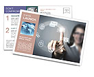 The finger points to the modern ways of communication Postcard Template