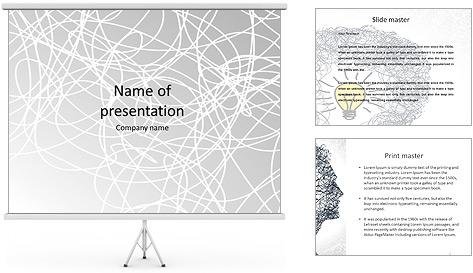 Les cercles blancs Modèles des présentations  PowerPoint