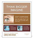 Close-up eyes and Technology Poster Template
