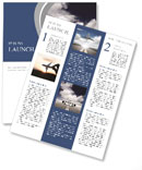 Plane on the runway Newsletter Templates