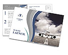 Plane on the runway Postcard Template