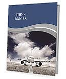 Plane on the runway Presentation Folder