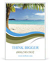 Incredibly beautiful beach in an exotic location and a palm tree Ad Template
