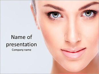 Beautiful girl face PowerPoint Template