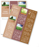 Beautiful green meadow and a very large tree Newsletter Template