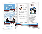 Business People look at a presentation Brochure Templates